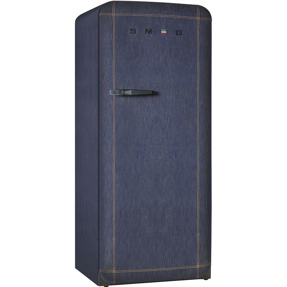 Smeg Kühlschrank FAB28RDB Denim Jeans Textiloberfläche – Heydorn&Hoeco