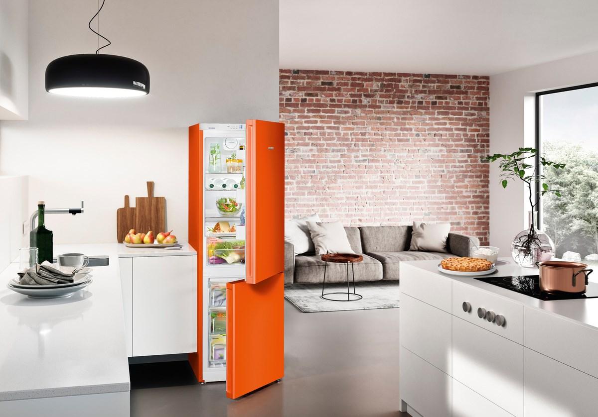 liebherr k hl gefrierkombination cnno4313 nofrost neonorange heydorn hoeco. Black Bedroom Furniture Sets. Home Design Ideas